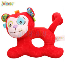 2017 Plush toys Children Plush Running Hand Rattle soft toy Drawstring Cute stuffed Animals Monkey Kids Hand for children toys(China)