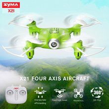 Syma X21 Mini Drone Quadcopter 2.4G 4CH 6-aixs Gyro RC Dron No Camera RC Helicopter Remote Control Aircraft Children Toys Gift(China)