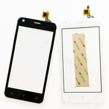 4.5'' Tested Phone Touchscreen For Fly FS454 FS 454 Nimbus 8  Sensor Touch Screen Digitizer Front Glass Touch Panel +3m glue
