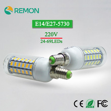 Energy Saving 220v LED Lamp bulb E14 Replace 7W 12W 15W 20W 25W Fluorescent Light SMD5730 24/36/48/56/69 LEDs lampada led E27