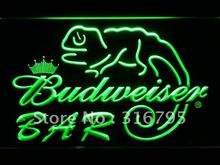 442 BAR Budweiser Lizard Beer LED Neon Sign with On/Off Switch 20+ Colors 5 Sizes to choose(China)