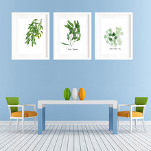 Watercolor Painting Green Plants Multi Floral Leaf Canvas Art Print Poster Wall Picture No Frame Modern Nordic Living Room Decor