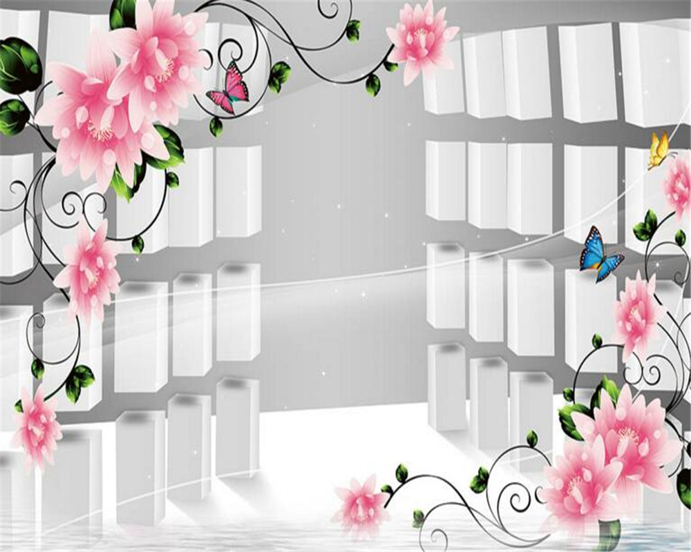 papel de parede 3D Flowers 3D Cubic Columns Background Walls Home Decor 3D Wallpapers Photos Living Room Bedroom Murals photo<br><br>Aliexpress