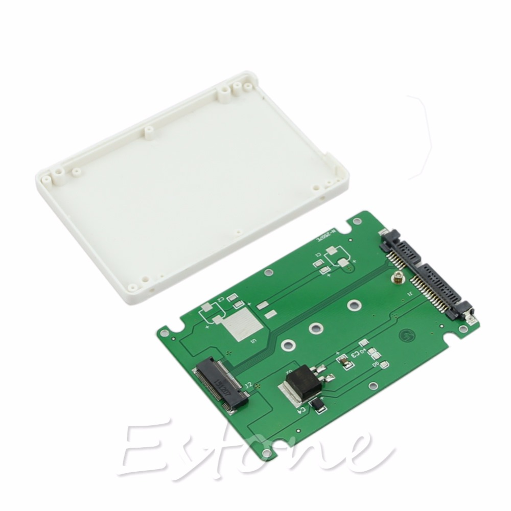 Enclosure M.2 NGFF SSD to 2.5″ SATA Adapter Card With 7MM Thickness Case New