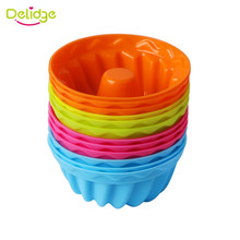 Delidge 12 PCS/Lot Pumpkin Shape 3D Cake Cup Silicone Muffin Cupcake Mold Baking Tools Cake Decorating Tools For Bakeware(China)