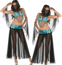 Women Sexy Club Cos-Play Dance Clothing Arab Belly Dance Costumes Performance Belly Dance Bra Veil Pants Danza Del Vientre LD137(China)
