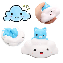 12CM Jumbo Kawaii Animal Cat clouds Squishy Slow Rising Phone Strap Kid Toys Squeeze Soft Bread Cake Relieve Charm pussy Cartoon(China)