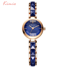 Kimio Brand Women Watch Ladies Imitation Ceramic Gold Casual Watches Montre Femme Women's WristWatches Relojes Mujer Montre(China)