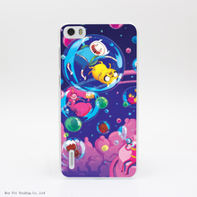 Adventure Time Is Out In Transparent Hard Back Cover Case for Huawei Ascend P6 P7 P8 Lite Honor 4X 4C 6 7 G7