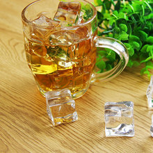 2cm/3cm 20PCS Artificial Fake Ice Cube Clear Plastic Christmas Decoration Party Supply Home Display