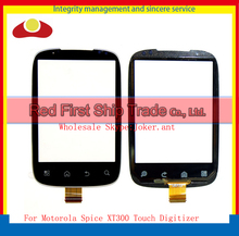 "10Pcs/lot High Quality 3.0"" For Motorola Spice XT300 Touch Screen Digitizer Sensor Front Glass Lens Black +Tracking Code"