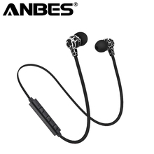 Buy ANBES Wireless Bluetooth Headphone V4.0 Sports Earphone Gym Headset Mic Earbuds Universal iPhone7 Xiaomi Mobile Phone for $4.99 in AliExpress store