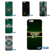 For iPhone 4 4S 5 5S 5C SE 6 6S 7 Plus NHL Dallas Stars Logo Soft Silicone TPU Transparent Cover Case
