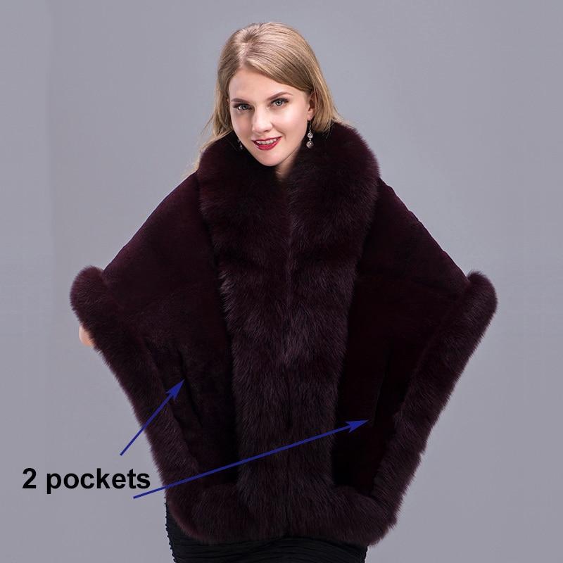 real fur shawl details 1