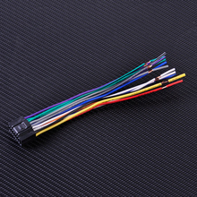 CITALL Car Radio Stereo ISO Standard Wiring Harness CD Player Plug Cable Cord fit for Kenwood Car Stereo with 16 pin Connector(China)