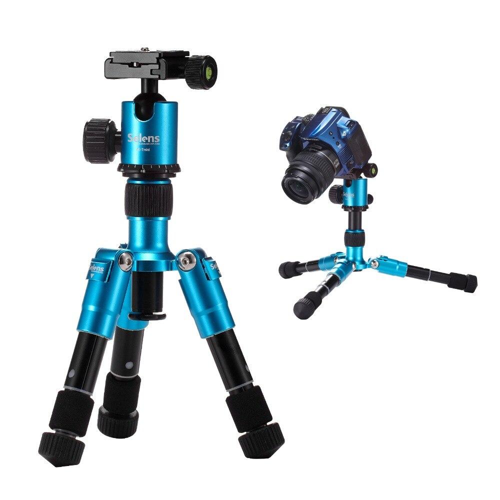 Selens SE-mini 46.5cm/18.2 Blue Tripod Monopod with ballhead protect bag light weight for DSLR camera travel trip shooting<br><br>Aliexpress