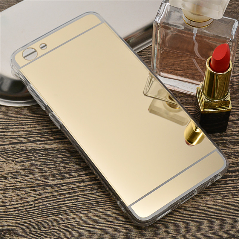 "Luxury Bling Mirror Soft TPU Phone Shell New VIVO Y71 Case Clear Plastic Cover Anti Shock Capa 6.0"" Vivo Y71 Y 71 (L0530"