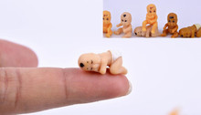 Free Shipping 20pcs/set Mini Plastic Babies Party Favor bulk goods genuine small baby doll 2cm Diy Accessories mini baby shower