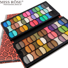 Miss Rose 1pc 80 Color Eye Shadow A200 Shimmer/ Matte Eyeshadow Powder Long-Lasting Eyes Makeup Kit Orange Leopard Designs A200