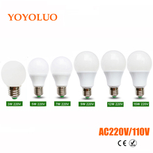 1Pcs High End quality LED lamp 3W 5W 7W 9W 12W 15W 220V 230V 110V Real Power Aluminium Heat Dissipation LED Ball Bulb Spot light(China)
