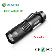 Waterproof Mini LED Flashlight High Power 2000lm led flash light 3 Modes Zoomable LED Torch light Portable Outdoor Lighting Lamp