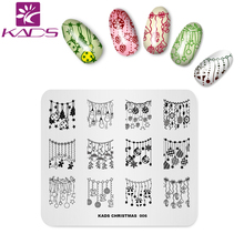 KADS New Arrival Christmas 006 Decorations for Christmas Templates DIY Image Nail Polish Stamp Template Plate Beauty Tools(China)