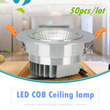 50X Dimmable Led downlight Spot light COB Ceiling 3W 5W 7W 10W 12W 15W 20W 30W 85-265V ceiling recessed Lights Indoor Lighting(China)