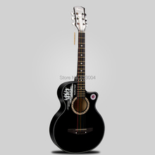 free shippinc length of the 95 cm 38 inches blue sword ballad guitar beginners guitar students practise black guitar