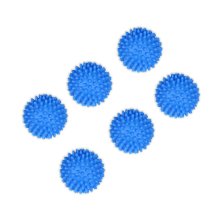 6 x Blue Washing Laundry Dryer Ball No Chemicals Soften Cloth Drying Fabric Softener Ball Cheap Price(China)