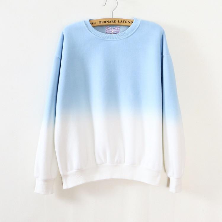 ArtSu Autumn Winter Thicken Fleece Gradient Color Hoodies Sweatshirt Women Hoody Tracksuit Cute Sweatshirts Clothing ASHO50037 8