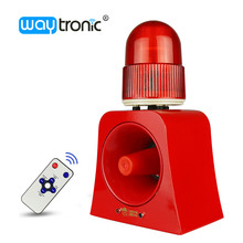 Industrial LED Flashing Beacon Light Siren Microwave Detection Portable Audible and Visual Alarm Device with USB Port