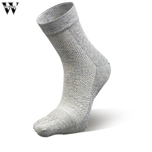 1 Pair Autumn Spring Women Middle Tube Cotton Five Finger Toe Socks Amazing JL 26(China)