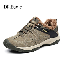 DR.EAGLE Men outventure sneakers trekking outdoor sport winter mens shoes krasovki mountain shoes men ankle boots 38-44