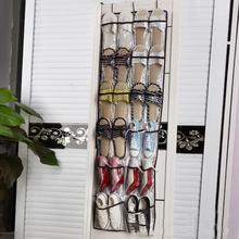22 Clear Pockets Hanging Shoes Organizer Bag Living Room Door Back Wall Shoes Holder Kids Toys Storage Bag with Hooks(China)