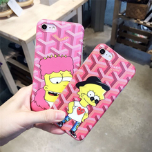 Cartoon 3D Love Simpson man matte TPU Fitted case for iPhone 6 case Full Coverage Protector back cover for iPhone 6s case cover