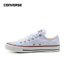 Converse All Star Classic Canvas Low Top Sapatos de Skate Unisex Branco Anti-Escorregadio Sneakser 35-44(China)