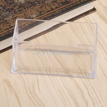 Clear Business Card Holder Acrylic Plastic Display Stand Rack Desktop Office(China)