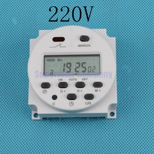 CN101A AC 220V 230V 240V Digital LCD Power Timer weekly 7days Programmable Time Switch Relay 8A TO 16A TIMER 10A CN101 mini