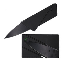 Folding Credit card knife stainless steel blade small Wallet knives survival camping tool tactical mini hand tools pocket knife