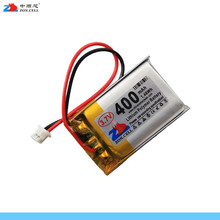 In the 3.7V 400mAh lithium polymer battery 602030 button wireless mouse battery 1.25 plug Li-ion Cell