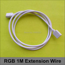 3 Pcs/lot 3528 5050 RGB Extension 1M Wire RGB 4pin Strip 1 Meters Extend Connector Cable 4 pins female-female(China)