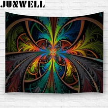 2017 New Indian Mandala Tapestry Hippie Wall Hanging Tapestries Boho Beach Towel Yoga Mat Blanket Table Cloth 150*130cm(China)
