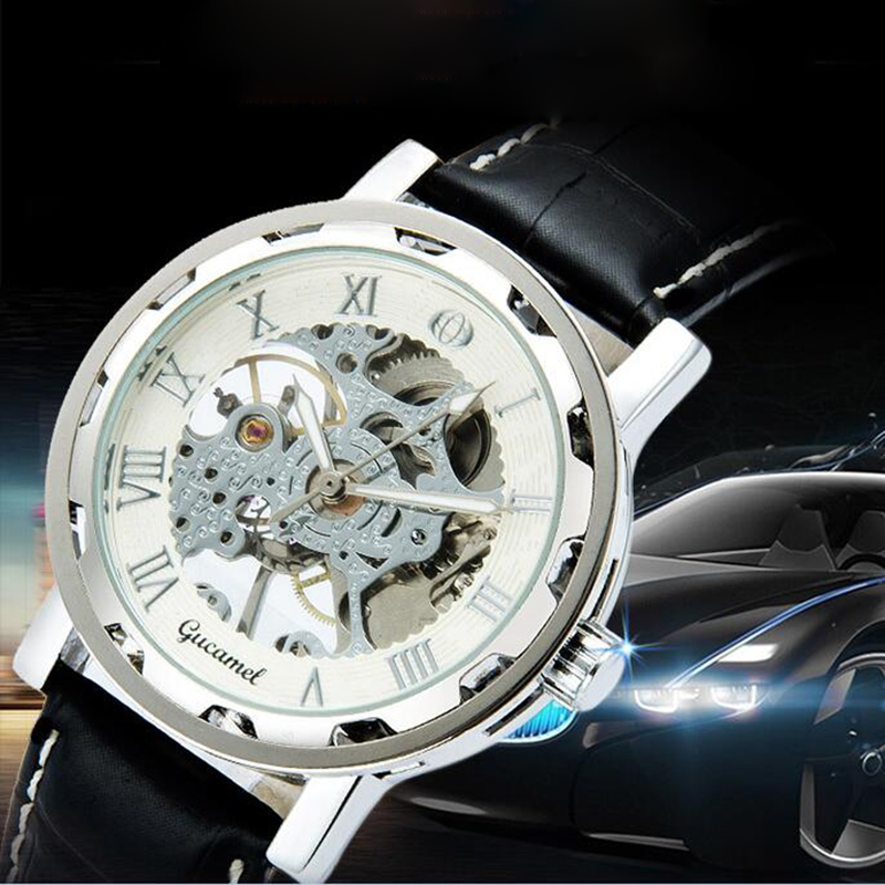 2017 Mens Watch High-End Fashion Waterproof Leather Belt Business Automatic Mechanical Watches Hollow Watch Relogio Masculino<br><br>Aliexpress