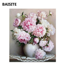 BAISITE DIY Oil Painting Pictures By Numbers Frameless Handpainted Canvas Wall Picture For Living Room Home Decor E702(China)