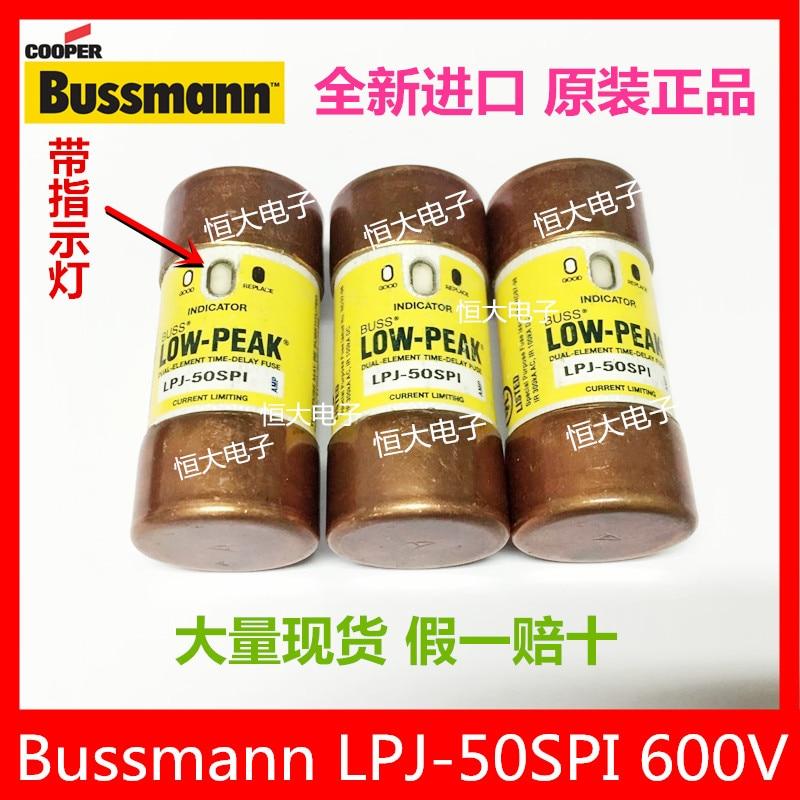 BUSSMANN LPJ-45SPI 45A 600V import fuse delay fuse with indicator light<br>