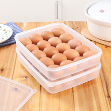 24 Eggs Storage Box High Quality Single Layer Refrigerator Food 20-24 Eggs Airtight Storage Container Plastic Box(China)