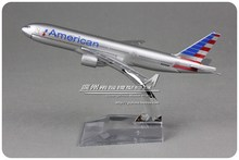 (5pcs/lot) Brand New 1/400 Scale Airplane Model Toys American Airlines Boeing B777 (16cm) Diecast Metal Plane Model Toy
