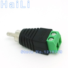 10pcs CAT5 RCA male TV Video Balun Connector for CCTV Camera,Terminal block to AV adapter jack AV Screw Terminal Connector(China)