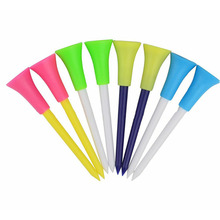 50 Pcs PGM High Quality Multicolor Plastic Golf Tees Golf Tools Rubber Cushion Top Equipment durable 83mm / 3.3in Professional(China)