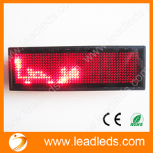 5 x Free Red led scrolling message name badge For Thai Arabic Russian Etc World Language(China)